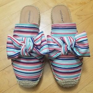 Comfortview Adri Slip On Mules with Bow 9W